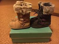 Girls Clarks Boots X 2