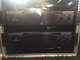 * Reduced price * Behringer europower amps