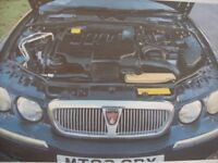 Rover 75 2.0 diesel estate club 2002. New MOT. BMW engine 45 MPG. Very clean, quiet, straight car.