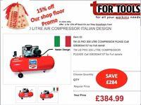 TM US PRO 200 LITRE AIR COMPRESSOR Italian Design