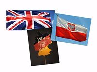 German, Polish, English