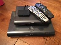 Sky+ HD box (1 terra bite made by sky) plus one sky HD box for multi-room and sky mini box