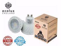 50 Pcs 5 year warranty LED GU10 5w = 50w Halogen Light bulbs Warm White Day White Dimmable Retro