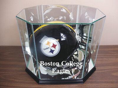 - F/S Boston College Eagles Glass Football Helmet Display Case NFL NCAA UV