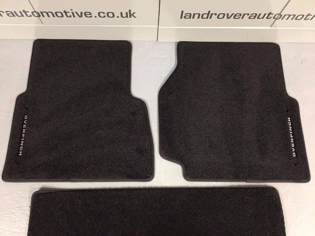 LAND ROVER DEFENDER FRONT & REAR CARPET MATS GENUINE NEW OVERFINCH TDCI RHD