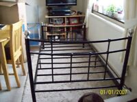 Black/Silver Metal Bed Frame Single