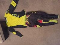 Fox motor cross bike suit