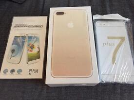 Iphone 7 plus 128gb gold unlocked plus extras