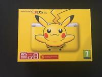 RARE LIMITED EDITION Pikachu 3DS XL