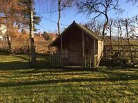 Wooden playhouse (Malvern Lodge)