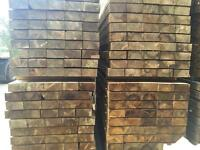"""8""""X 4""""X 2.4M Pressure Treated Wooden/Timber Sleepers ~New~🌲"""