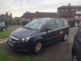 Vauxhall zafira 1.8L Taxi plate