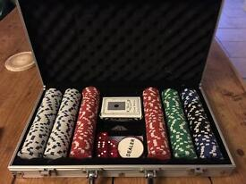 Poker card game in lockable case
