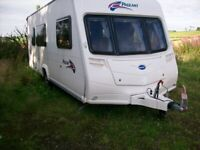 bailey pegeant champange 4 berth 2008 full awning immaculate condition