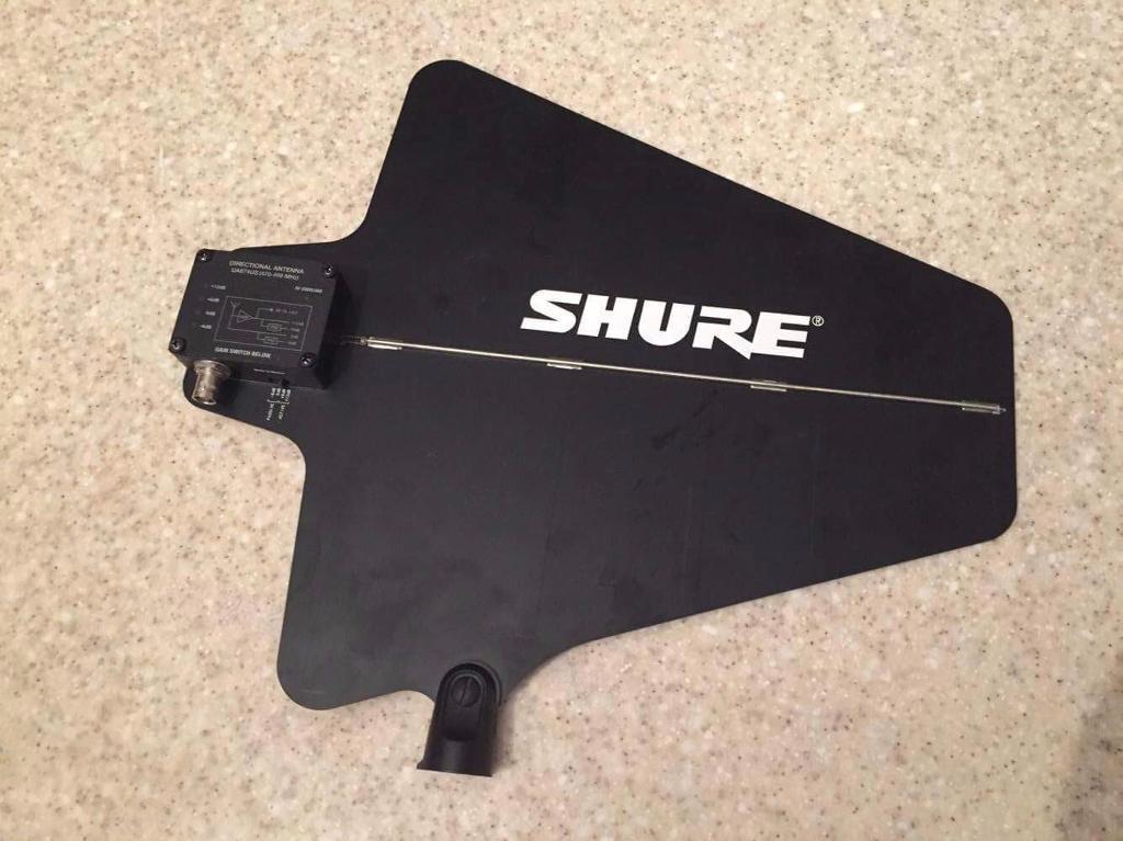 Shure UA874 Active Directional Antenna - paddle - radio mic - 470-698Mhz