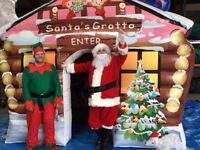 Santas Grotto Hire Christmas Grotto with Santa Clause, rodeo Reindeer Packages available