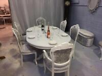Louis Rocco style Dining Table and 6. chairs