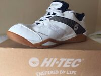 *New/Unused* Boys/mens HI-TEC Squash Shoes Size 8.5