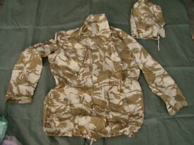 NEW - British Army Desert Issue - Ripstop CS95 Field Jacket + Matching Hood (XL)