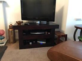 Dark Mango TV unit and matching E Shelf.