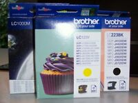 Original Brother ink cartridges (sets LC1000 / 123 / 223.