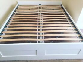 Ikea Brimnes White Double Bed - £40 - collection only