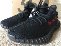 New yeezy boost black/red V2 350