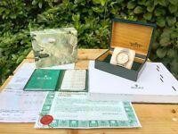 Rolex DateJust, Gold Bezel, Crown and Roman Numerals