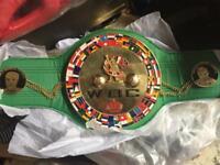 Full sized wbc chain world title boxing championship belt