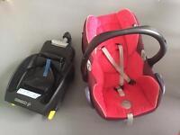Maxi Cosi Cabriofix Seat and Isofix Base