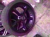 "Bmw single ac schnitzer 19"" type 4 black alloy wheel Can post"
