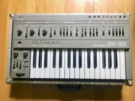 Roland SH-101 Analog Synth - Excellent condition with custom flightcase