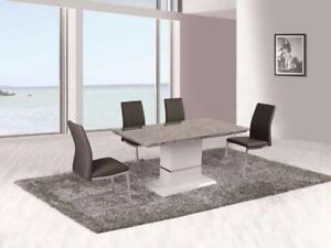 RECTANGULAR GLASS DINING SET ON SALE (ID-259)