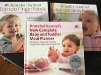 Three Annabel Karmel weening and feeding books