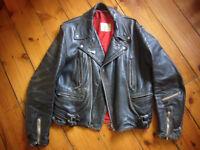 Lewis Leathers Aviakit Lightning, Black Leather Motorcycle Jacket, Style no.391