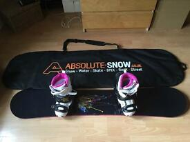 Ladies Snowboarding Set Up - Board, Boots, Bindings & Bag