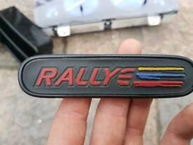 106 s2 rallye dash badge