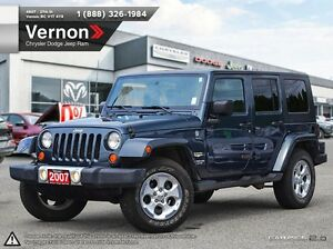 2007 Jeep Wrangler Unlimited Sahara 4WD REMOVABLE ROOF | AUX-IN
