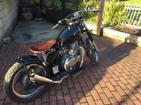 Suzuki gn 250cc bobber hardtail cracking bike