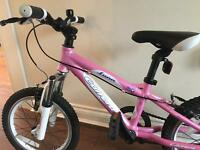 "Pink Kids Children Girls Carrera Luna 16"" Wheels Aluminium Frame Mountain Bike"
