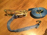 Heavy duty ratchet straps x4