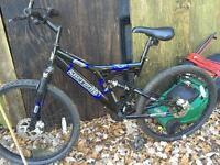 Mountain bike hardly used Xmas present