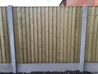 HEAVY DUTY STRAIGHT TOP PRESSURE TREATED CLOSE BOARD WOODEN FENCE PANELS 🌲