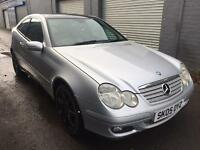 SALE! Mercedes c class, 2.2cdi diesel coupe, full years MOT