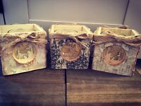 Beautiful Wooden Christmas Candle Holders ♡