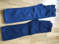2 pairs of boys navy trousers