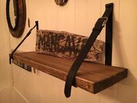 Wooden Belt Shelf