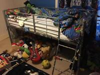 Children's bunk style bed with Spider-Man sides