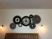 Metal Cogwheel Wall Clock For SALE