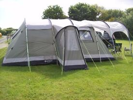 Outwell Montana 6 berth tent with canopy - ideal for family holidays